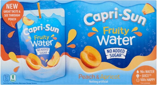 CAPRI-SUN Fruity water peach apricot