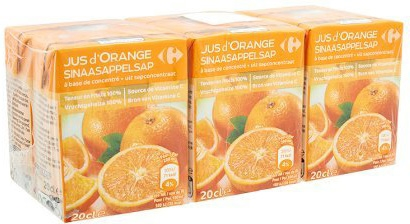 CARREFOUR Jus d'orange à base de concentré