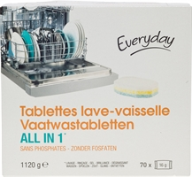 EVERYDAY (COLRUYT) TABLETTES LAVE-VAISSELLE ALL IN 1 | Meilleurs lessives 2020 - Test Achats