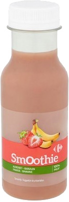 CARREFOUR Smoothie fraise bananes